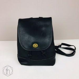 Vintage Coach 9791 leather day bag book bag black